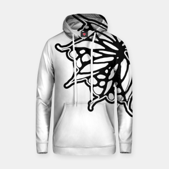 Thumbnail image of Black and White Fantasy Flower Illustration Hoodie, Live Heroes