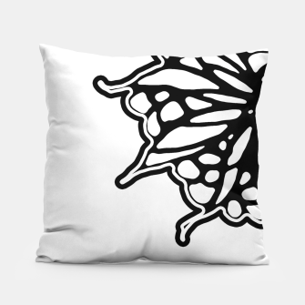 Thumbnail image of Black and White Fantasy Flower Illustration Pillow, Live Heroes
