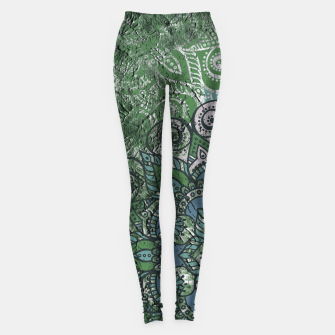 Thumbnail image of Vintage Red Oriental Traditional Moroccan Style Artwork Leggings, Live Heroes
