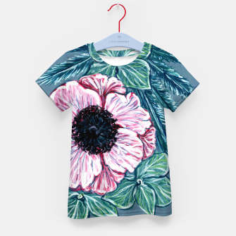 Thumbnail image of Floral Pattern - Grey, Blue, Pink Kid's t-shirt, Live Heroes