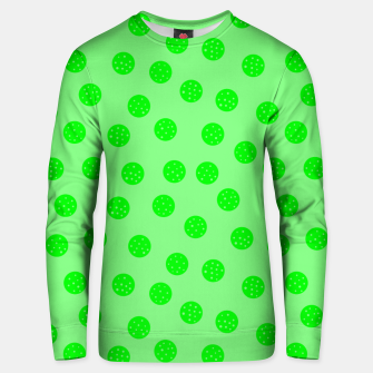 Thumbnail image of Dots With Points Spring Green Unisex sweater, Live Heroes