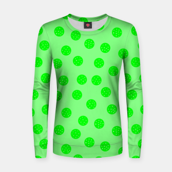 Thumbnail image of Dots With Points Spring Green Women sweater, Live Heroes