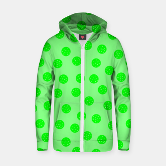 Thumbnail image of Dots With Points Spring Green Zip up hoodie, Live Heroes