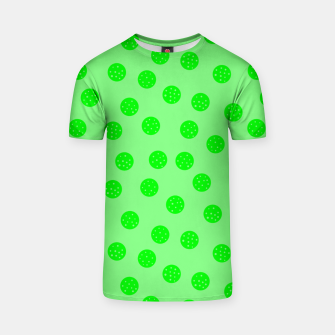 Thumbnail image of Dots With Points Spring Green T-shirt, Live Heroes