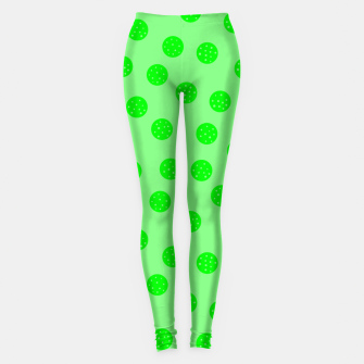 Thumbnail image of Dots With Points Spring Green Leggings, Live Heroes