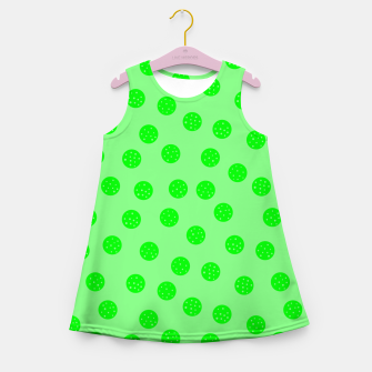 Thumbnail image of Dots With Points Spring Green Girl's summer dress, Live Heroes