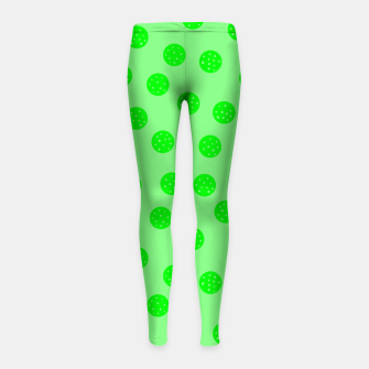 Thumbnail image of Dots With Points Spring Green Girl's leggings, Live Heroes