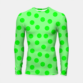 Thumbnail image of Dots With Points Spring Green Longsleeve rashguard , Live Heroes