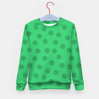 Miniature de image de Dots With Points Forest Green Kid's sweater, Live Heroes