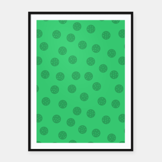 Miniature de image de Dots With Points Forest Green Framed poster, Live Heroes