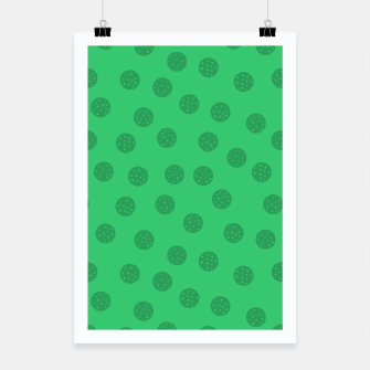 Miniature de image de Dots With Points Forest Green Poster, Live Heroes