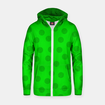 Thumbnail image of Dots with points Green Zip up hoodie, Live Heroes