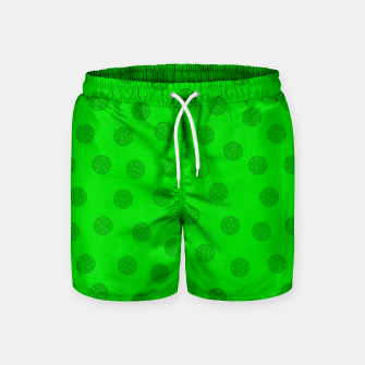 Dots with points Green Swim Shorts thumbnail image