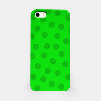 Dots with points Green iPhone Case thumbnail image
