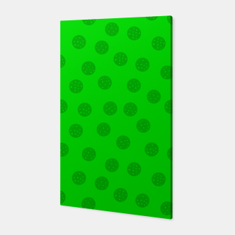 Dots with points Green Canvas thumbnail image