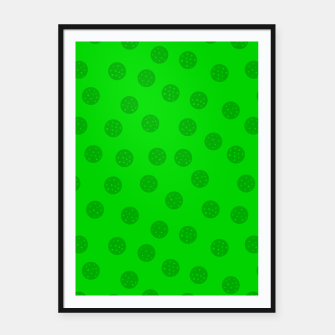 Thumbnail image of Dots with points Green Framed poster, Live Heroes