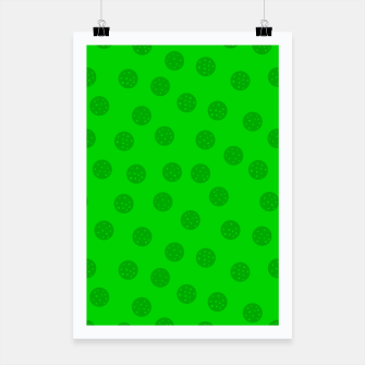 Thumbnail image of Dots with points Green Poster, Live Heroes