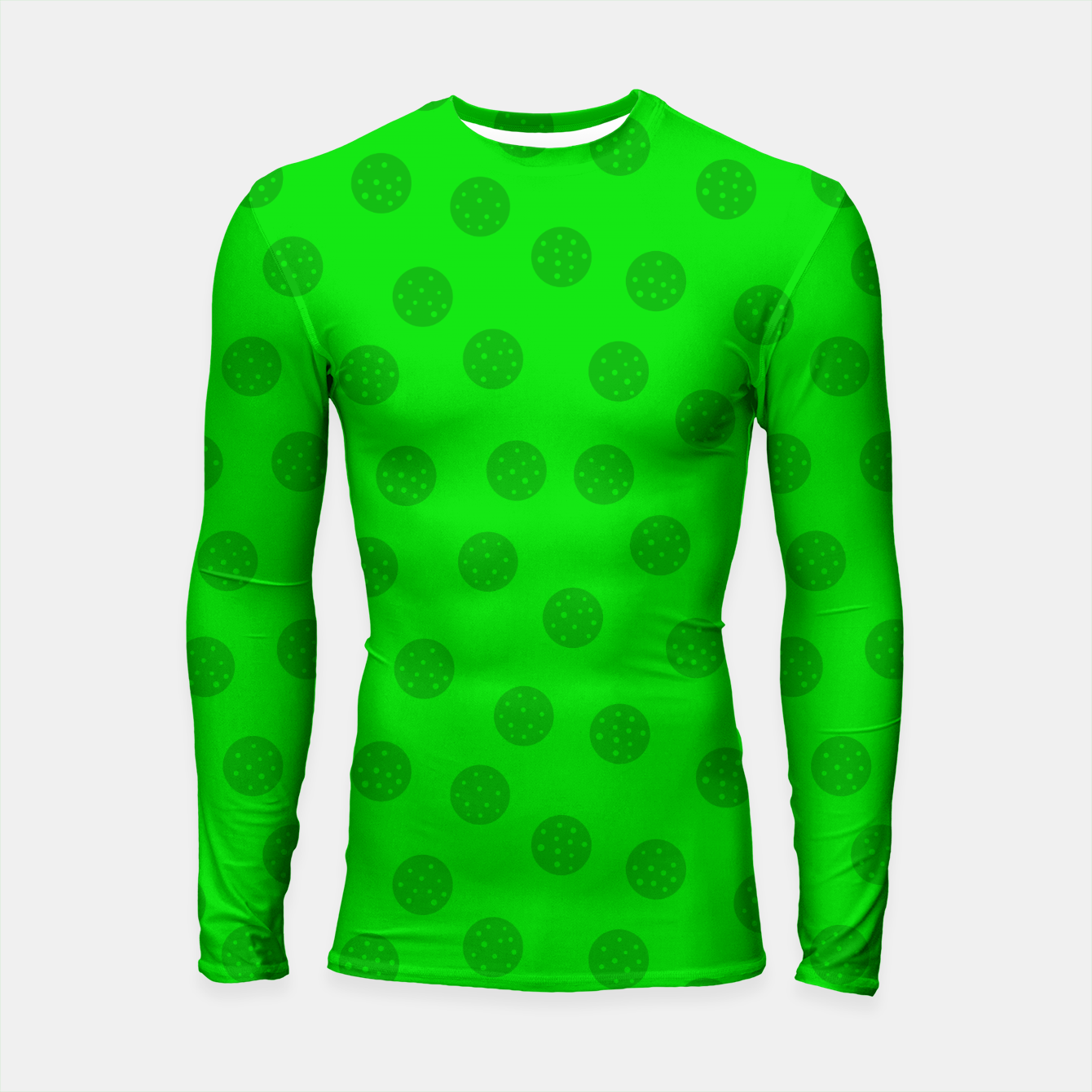 Image of Dots with points Green Longsleeve rashguard  - Live Heroes