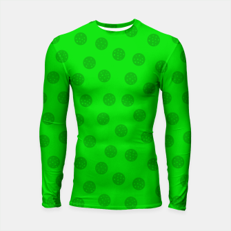 Thumbnail image of Dots with points Green Longsleeve rashguard , Live Heroes