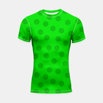 Thumbnail image of Dots with points Green Shortsleeve rashguard, Live Heroes
