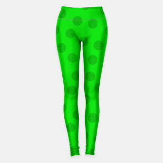 Thumbnail image of Dots with points Green Leggings, Live Heroes