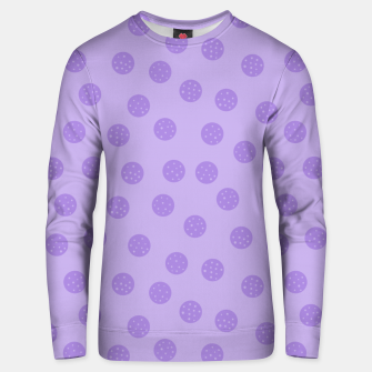 Thumbnail image of Dots With Points Lavender Unisex sweater, Live Heroes