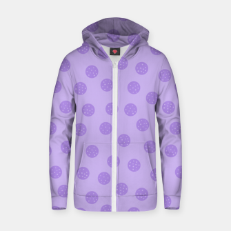 Thumbnail image of Dots With Points Lavender Zip up hoodie, Live Heroes