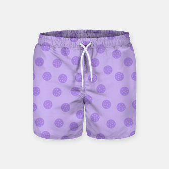 Thumbnail image of Dots With Points Lavender Swim Shorts, Live Heroes