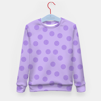 Thumbnail image of Dots With Points Lavender Kid's sweater, Live Heroes