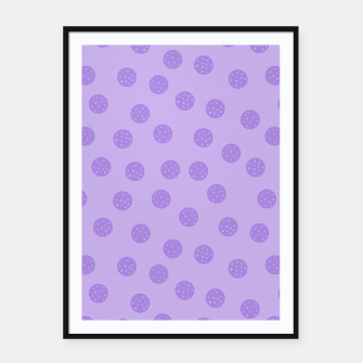 Thumbnail image of Dots With Points Lavender Framed poster, Live Heroes