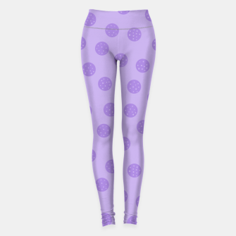 Thumbnail image of Dots With Points Lavender Leggings, Live Heroes