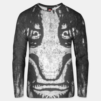 Miniatur Black and White Zombie Man Portrait Drawing Unisex sweater, Live Heroes