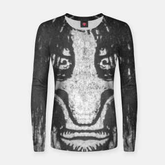 Black and White Zombie Man Portrait Drawing Women sweater Bild der Miniatur