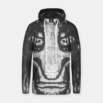 Black and White Zombie Man Portrait Drawing Hoodie Bild der Miniatur