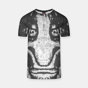 Black and White Zombie Man Portrait Drawing T-shirt Bild der Miniatur