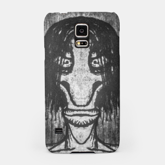 Black and White Zombie Man Portrait Drawing Samsung Case Bild der Miniatur
