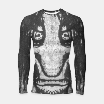 Black and White Zombie Man Portrait Drawing Longsleeve rashguard  Bild der Miniatur