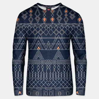 Thumbnail image of Blue Indigo Oriental Moroccan Style  Unisex sweater, Live Heroes