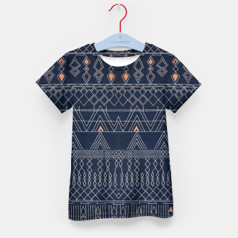 Thumbnail image of Blue Indigo Oriental Moroccan Style  Kid's t-shirt, Live Heroes
