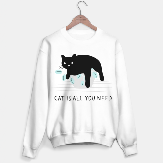 Miniatur Cat is all you need Sweater regular, Live Heroes