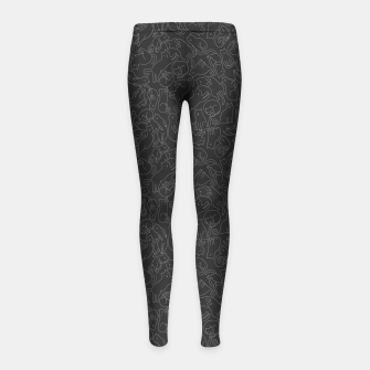 A lot of black cats  Girl's leggings obraz miniatury