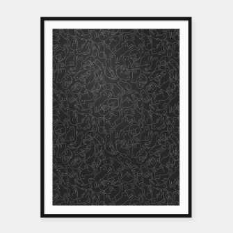 A lot of black cats  Framed poster obraz miniatury