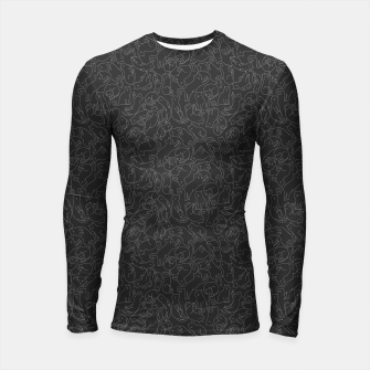 A lot of black cats  Longsleeve rashguard  obraz miniatury