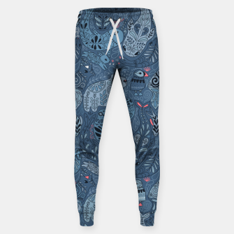 Arctic animals. Polar bear, rabbit, fox, narwhal, whale, owl. Winter friends. Anna Alekseeva Sweatpants obraz miniatury