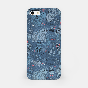 Arctic animals. Polar bear, rabbit, fox, narwhal, whale, owl. Winter friends. Anna Alekseeva iPhone Case obraz miniatury