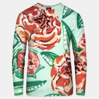 Thumbnail image of Floral Pattern - Peach Peonies & Mint Unisex sweater, Live Heroes