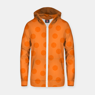 Thumbnail image of Dots With Points Orange Zip up hoodie, Live Heroes