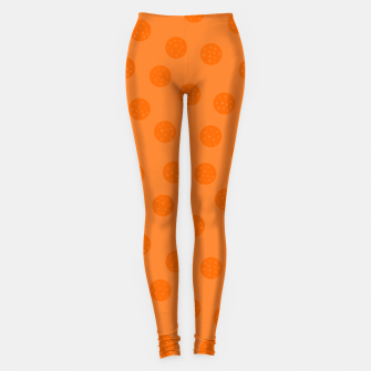 Thumbnail image of Dots With Points Orange Leggings, Live Heroes