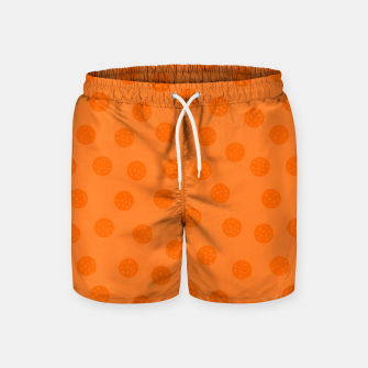 Thumbnail image of Dots With Points Orange Swim Shorts, Live Heroes