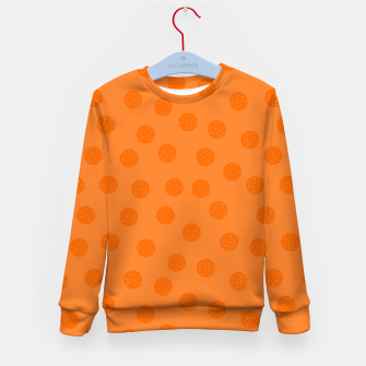 Thumbnail image of Dots With Points Orange Kid's sweater, Live Heroes